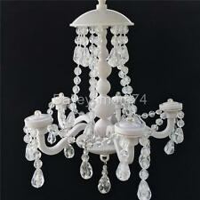 White Crystal Beaded Magnetic Chandelier School Locker Light Decor Accessory NEW