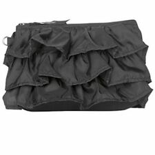 Thirty one mini zipper pouch wallet 31 gift in black ruffle lace new retired c