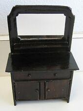 Antique German doll house miniature tin Rock & Graner sideboard buffet dresser