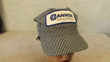 VTG Canron Railgroup Railroad Spike Equipment Hickory Stripe Engineer Hat/Cap