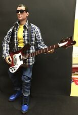 "1/6 12"" FIGURE WITH ELECTRIC GUITAR FENDER ROCK BBI HOT COOL TOY DRAGON YAMAHA"