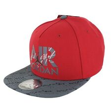 Air Jordan Stencil Snapback 707249-687 Red Grey Black One Size Fits Most