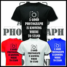 QUOTE A GOOD PHOTOGRAPH PHOTOGRAPHY PHOTOGRAPHER CAMERA BLACK T SHIRT TEES S-XL