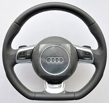 AUDI A3 A4 A5 A6 A8 TT R8 Q5 Q7 S-Line Flat Bottom Steering Wheel DSG PADDLES