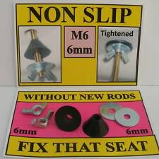 NON SLIP FITTINGS to fix LOOSE METAL TOILET SEAT HINGES. (wooden novelty resin)