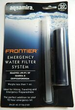 AQUAMIRA FRONTIER EMERGENCY WATER FILTER STRAW SYSTEM, FILTERS UP TO 20 GALLONS