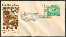 1959 Philippines CITY OF BAGUIO GOLDEN JUBILEE 1909-1959 First Day Cover - C