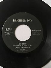 "RARE DETROIT GOSPEL SOUL 45/ JAMES MCMORRIS ""OH LORD""   HEAR!"