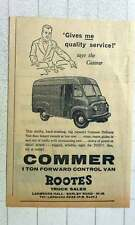 1960 Rootes Truck Sales And Ladbroke Hall One Ton Forward Control Van