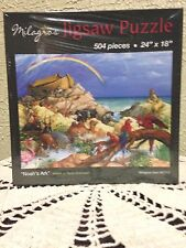 """NEW Noah's Ark Childrens Puzzle, 504 pieces 24"""" X 18"""" by Milagros Stunning!"""