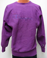 vtg NEON PURPLE Champion Reverse Weave Sweatshirt XL 90s usa warmup sewn logo