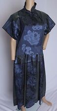 RARE VTG 70's Kenzo Paris Floral Brocade Iridescent Silk Blend Dress M