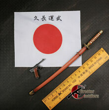 "*WWII Japanese Metal Samurai Sword & Pistol & Flag 1/6 For 12"" Action Figure"