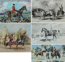 Watercolours by Cyril Paston after originals by Sir Alfred Munnings
