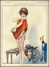 1920s La Vie Parisienne Getting Dressed France Travel Advertisement Poster Print