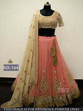 Indian Bollywood Lehenga Pink Party Wear Lengha Choli Pakistani Lehenga Choli