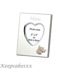 Heart Photo Frame & WESTIE TERRIER DOG Sterling Silver & personal engraving
