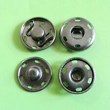 8 Metal Snap Fastener Press Stud Hold Edges Sew On Buttons Pewter 15mm 24L M190