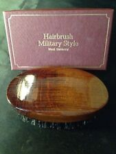 Vintage Hairbrush Military Style Wood with Bristle West Germany! In Box!