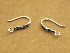 925 Sterling Silver Earrings DIY Ear Wire French Hook Connector A1974