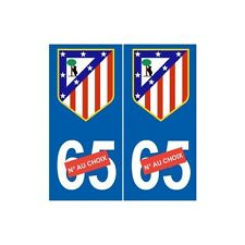Club Atlético de Madrid foot sticker autocollant plaque droits