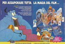 X1676 Aladdin - Disney Libri - Pubblicità del 1994 - Vintage advertising