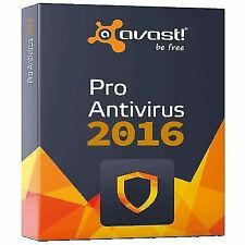 Avast Antivirus 2016 PC Security Activation Code 1 User