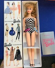 NEW NRFB #1 Vintage Barbie 1959 Reproduction BLONDE Ponytail wSwimsuit Shoes BOX