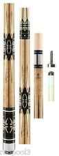 McDermott Star Cue S62 - Overlay Points, Handle & Rings Free 1x1 Hard Case &SHIP