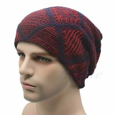 Men's Women's Knit Baggy Beanie Oversize Fashion Winter Hat Ski Slouchy Chic Cap