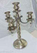 Kerzenständer mit drei Armen / Zinn