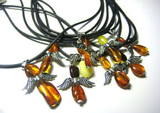 "BALTIC AMBER WHOLESALE LOT OF 10  PENDANTS ""ANGEL"""