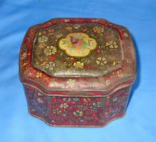 Vintage Old Collectible George W. Horner & Co. Ltd. Flower Litho Tin Box England