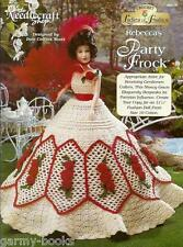 Rebecca's Party Frock Ladies of Fashion Crochet Gown Pattern for Barbie Doll NEW