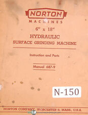 "Norton 6"" x 18"", Surface Grinding Machine, Operations Service and Parts manual"
