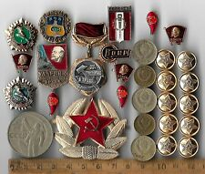 Rare Old CCCP Star Army Badge Lenin Civil Pin Medal COLD WAR Coin Collection Lot