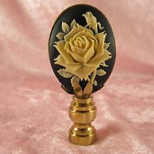 ROSE CAMEO LAMP FINIAL for old antique shade or lampshade