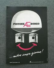 H199 - Advertising Pubblicità - 1962 - PISTONE AE BORGO