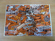 Sticker Bomb sheet 3e - Orange - A4 size