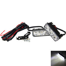 2x3 LED White High Power Car DRL Daytime Running Light Fog Driving Lamp Universl