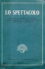 LO SPETTACOLO N. 4 1994 Ferrarotti Marzilli onardi Faggi Collovà Regoli