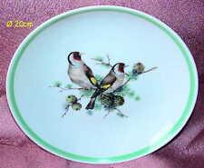 AK KAISER Porzellan Wandteller 20cm Vögel Dompfaff Porcelain Wall Plate Birds Or