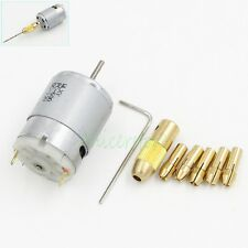 12V Motor 0.5-2.5mm Collets Small Electric Drill Bit Micro Grinder Chuck DIY Set