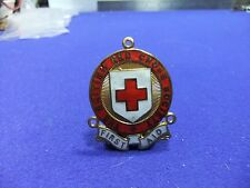 vtg badge red cross first aid medal enamel 44mm top to bottom