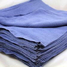 100 NEW LINT FREE BLUE SHOP TOWELS HUCK SURGICAL DETAILING GLASS JANITORIAL