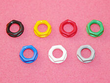 "4 x CLIFF UK Genuine 1/4"" 6.35mm Jack Socket Plastic Nuts 7 Colours for Marshall"