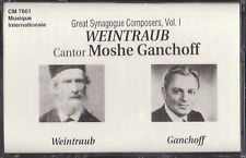Weintraub & Moshe Ganchoff - Great Synagogue Composers (Cassette) NEW Cantor