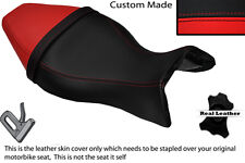 BLACK & RED CUSTOM FITS BUELL X1 LIGHTNING 1200 98-02 LEATHER DUAL SEAT COVER