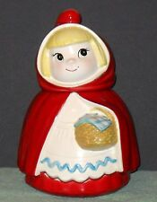 RARE LITTLE RED RIDING HOOD COOKIE JAR BY METLOX MADE IN POPPYTRAIL CA.