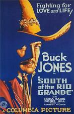 South of the Rio Grande Buck Jones Vintage Movie Poster Lithograph S2 Art Ltd Ed